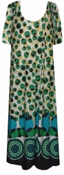 SOLD OUT! CLEARANCE! Green Circles Slinky Plus Size Supersize Dress 6x/7x