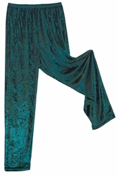SOLD OUT! CLEARANCE! Green Crush Velvet Pants Plus Size 1x/2x