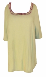 SOLD OUT! CLEARANCE! Green & Pink Ruffle Plus Size T-Shirt 1x