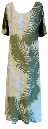 SOLD OUT! CLEARANCE! Green & Tan Breezy Plus Size Slinky Dress 4x/5x