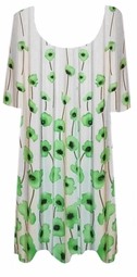 SOLD OUT! CLEARANCE! Green Vines Plus Size Supersize Slinky Shirt 7x/8x