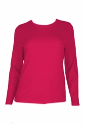 SOLD OUT! CLEARANCE! Hot Pink Plus Size Long Sleeve T-Shirt 4x/5x - 30/32