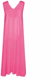 SOLD OUT! CLEARANCE! Hot Pink Slinky Plus Size Tank Dress 1x/2x