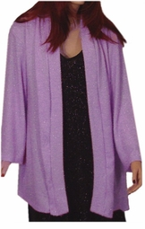 SOLD OUT! CLEARANCE! Lavender/Pink & Silver Glimmer Plus Size Sweater 1x./2x