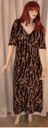 SOLD OUT! CLEARANCE! Leopard Slinky Plus Size Extra Long Dress 1x/2x