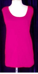 SOLD OUT! CLEARANCE! Linen Fuschia Pink Tank Top 1x