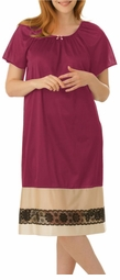 SOLD OUT! CLEARANCE! Lovely Magenta and Cream Plus-Size Two-Tone Tricot Gown 3x