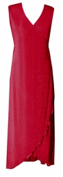 SOLD OUT!!!CLEARANCE! Lovely Ruby Red Slinky Cascading Plus Size Wrap Tank Dress 1x 2x 3x 4x 5x 6x