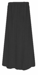 SOLD OUT! CLEARANCE! Lovely Solid Black Triplex Elastic Waist Plus Size Skirt 6x