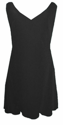 SOLD OUT! CLEARANCE! Lovely Solid Black V-Neckline Slinky Plus Size Tank Top 2x