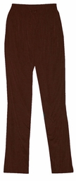SOLD OUT! CLEARANCE! Lovely Solid Dark Brown Slinky Plus Size Elastic Waist Pants 1x