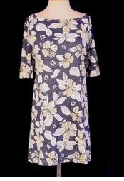 SOLD OUT! CLEARANCE!!! Mock Denim with Floral Print Plus Size Top 6x/7x