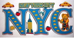SOLD OUT! CLEARANCE! New York City Toys on White Plus-Size Cotton T-Shirt 6XL