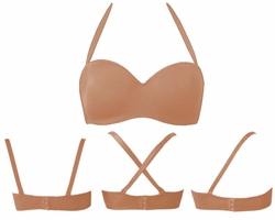 SOLD OUT! CLEARANCE! Nude Plus-Size Seamless 5-Way Convertible Bra 46D