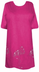 SOLD OUT!!! CLEARANCE! Pink Flamingo Rhinestone Border Plus Size 5x