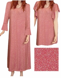SOLD OUT! CLEARANCE! Pink & Gold Glimmer Plus Size Dress 2x/3x