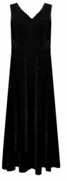SOLD OUT! CLEARANCE! Plain Black Slinky Plus Size Tank Dress 1x