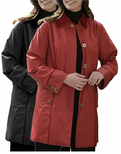 SOLD OUT!!!!!CLEARANCE! Plus-Sized Black or Red with Plaid Water Resistant Stadium Pantcoat with Matching Reversible Hat 26w