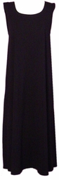 SOLD OUT! CLEARANCE! Pretty Black Silk Plus Size Supersize Tank Dress 6x/7x