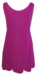 SOLD OUT! CLEARANCE! Pretty Magenta Poly/Cotton Regular Plus Size Tank 6x