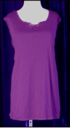 SOLD OUT! CLEARANCE!! Purple Embellished Plus Size Tank Top 5x 6x
