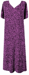 SOLD OUT! CLEARANCE! Purple Leopard Slinky Plus Size Supersize Dress 8x/9x