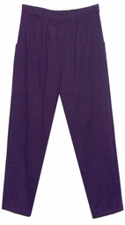 SOLD OUT! CLEARANCE! Purple Pocket Poly/Cotton Plus Size Pants 3x