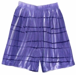 SOLD OUT! CLEARANCE! Purple Tiedye Plus Size Shorts 1x