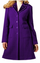 SOLD OUT!!!!! CLEARANCE! Purple Wool Plus Size Embroidery Trim Winter Coat 2x 22w