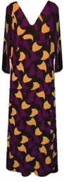 SOLD OUT! CLEARANCE! Purple Yellow Black Plus Size Supersize Slinky Dress 5x 6x