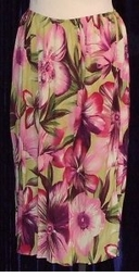 SOLD OUT! CLEARANCE! Rayon Challis Floral Plus Size Skirts 2x