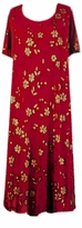 SOLD OUT!!!!!CLEARANCE! Red & Gold Floral Slinky Plus Size Supersize Dress 4x/5x