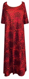 SOLD OUT! CLEARANCE! Red Leopard T-Shirt Dress Plus Size Supersize 5x/6x