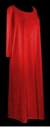 SOLD OUT! CLEARANCE! Red Red Red Crush Velvet Plus Size & Supersize Dresses 3x/4x