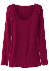 SOLD OUT! CLEARANCE! Relaxed Fit Plus-Sized Magenta Cotton Knit Tee Top 3x