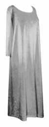 SOLD OUT! CLEARANCE! Silver Ice Velvet Plus Size Supersize Dress 4x/5x