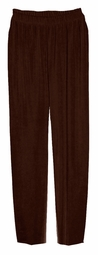 SOLD OUT!!!!!CLEARANCE! Solid Dark Brown Slinky Elastic Waist Plus Size Pants 6x