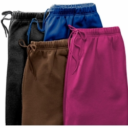 SOLD OUT!!!!CLEARANCE! Sporty Plus-Sized Chocolate Navy Black or Plum Softest Fleece Sweatpant 5x