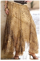 SOLD OUT! CLEARANCE! Tan & Gold Leopard Print Plus Size Skirt 3x - 24w