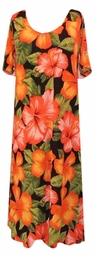 SOLD OUT! CLEARANCE! Tropical Flowery Plus Size Slinky Dress 4x/5x