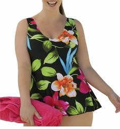 SOLD OUT! CLEARANCE! Tropical Plus Size Multi Floral Swimdress 20w/2x