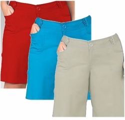 SOLD OUT! CLEARANCE! Turquoise Plus Size Stretch Cotton Shorts 3x - 28