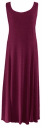 SOLD OUT! CLEARANCE! Ultra-Soft Plus Size Supersize Burgundy A-Line Tank Dress 6x 7x