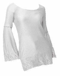 SOLD OUT! CLEARANCE! White Embroidered Plus Size Tunic Top 3x