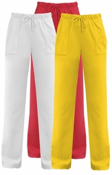 SOLD OUT!!!!CLEARANCE! White Pique Knit Pants Plus Size Supersize