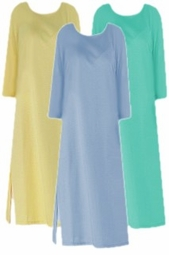 SOLD OUT! CLEARANCE! Yellow 3/4 Sleeve Poly/Cotton Jersey Long T-Shirt Dresses 6x