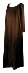 SOLD OUT! CLEARANCE! Yummy Soft Bronze Crush Velvety Plus Size Supersize Long Dress 8x 9x