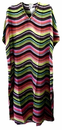 SOLD OUT!!!!!!!!!!!!!!Colorful Rainbow Print Poly/Satin Plus Size & Supersize Caftan Dress or Shirt 1x to 6x