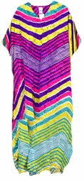SOLD OUT!!!!!Colorful Stripes Poly/Satin Plus Size & Supersize Caftan Dress 1x to 6x