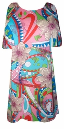 SOLD OUT! Colorful Summer Fun Plus Size Shirt with Carnival Flowers